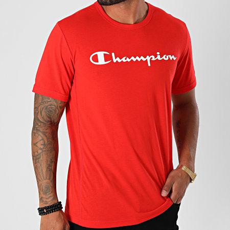 Champion - Tee Shirt Performance 214908 Rouge