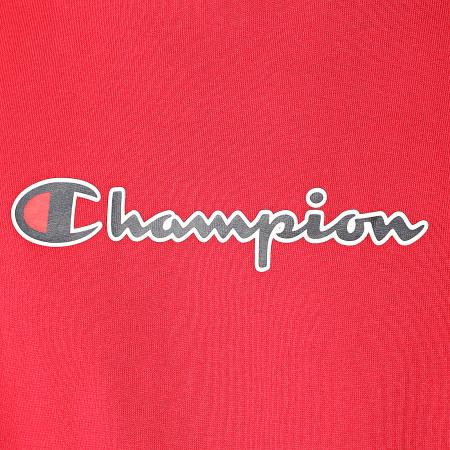 Champion - Tee Shirt A Bandes Colour Block 214789 Rouge