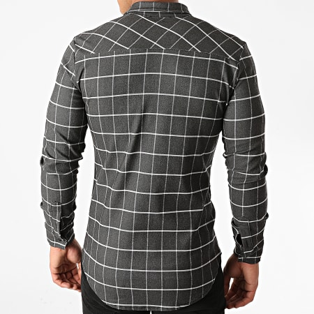 Uniplay - Chemise Manches Longues A Carreaux UP-C028 Gris Anthracite