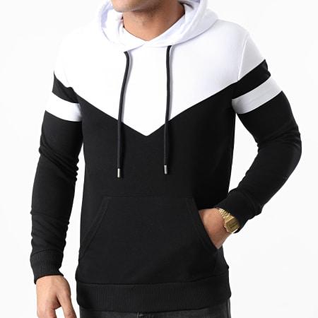 LBO - Sweat Capuche Bicolore 1372 Noir Blanc