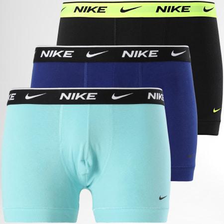 Nike - Lot De 3 Boxers Everyday Cotton Stretch KE1008 Noir Bleu