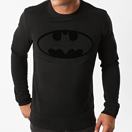 Batman - Sweat Crewneck Batman Logo Velvet Noir Noir