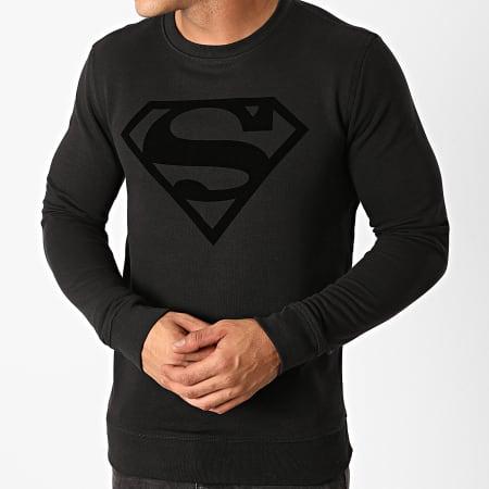 Superman - Sweat Crewneck Superman Logo Velvet Noir Noir