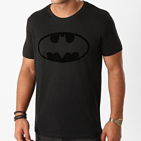 Batman - Tee Shirt Batman Logo Velvet Noir Noir