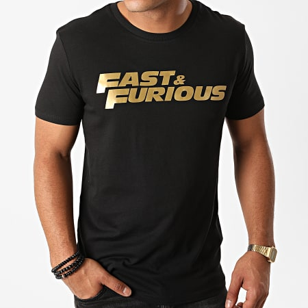 Fast And Furious - Tee Shirt Fast And Furious Noir Doré