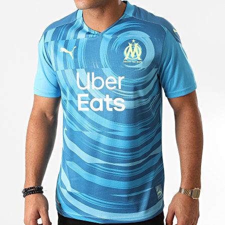 Puma - Tee Shirt De Sport OM 3D Replica 757038 Bleu Clair