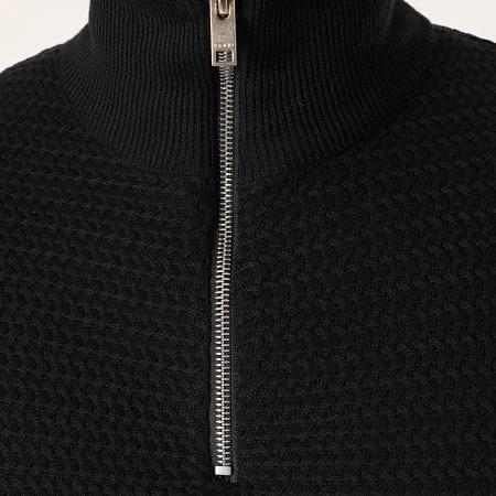 Solid - Sweat Col Zippé Shad Noir