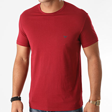 Emporio Armani - Lot De 2 Tee Shirts 111267-0A722 Bleu Marine Bordeaux