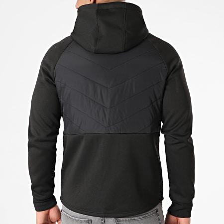LBO - Veste Zippée Capuche Bimatière 0002 Noir