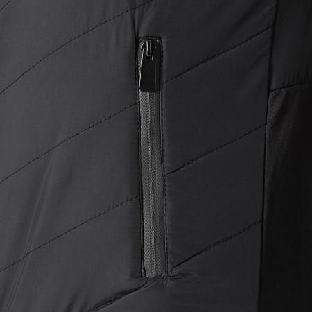 LBO - Veste Zippée Capuche Bimatière 0003 Noir