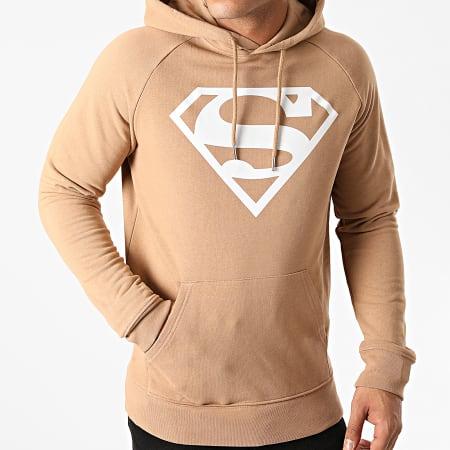 Superman - Sweat Capuche Superman Logo Camel
