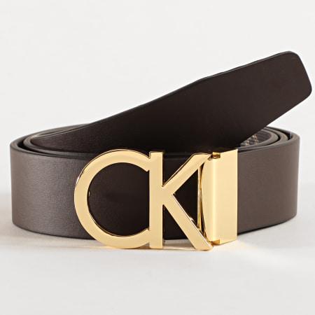 Calvin Klein - Ceinture Réversible Adjustable New Mono 5460 Marron
