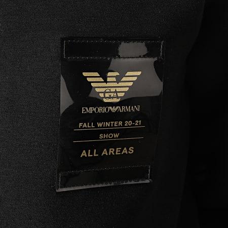 Emporio Armani - Veste Zippée Capuche 6H1MQ7-1JDSZ Noir Doré