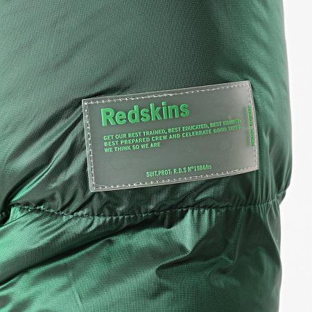 Redskins - Doudoune Capuche Puff Colls Vert Métallisé