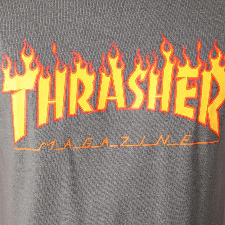 Thrasher - Tee Shirt Flame Logo 110102 Gris