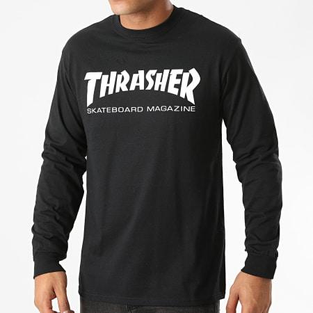 Thrasher - Tee Shirt Manches Longues Skate Mag 110107 Noir