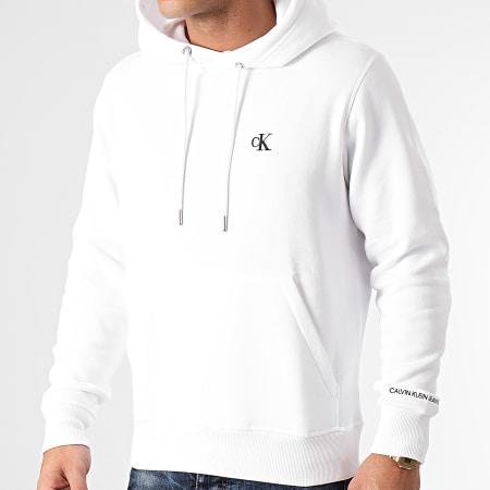 Calvin Klein Jeans - Sweat Capuche 5713 Blanc