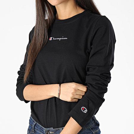 Champion - Tee Shirt Manches Longues Femme 113196 Noir