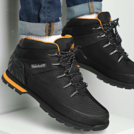 Timberland - Boots Euro Sprint Waterproof Mid Hiker A2E1R Black Knit Orange