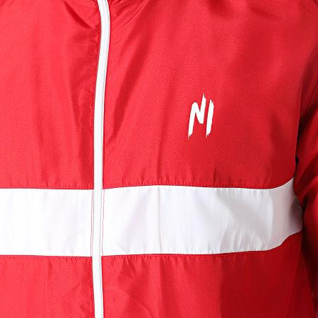 NI by Ninho - Ensemble De Survêtement A Bandes Colt S027 Rouge Blanc