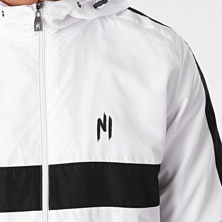 NI by Ninho - Ensemble De Survêtement A Bandes Colt S027 Blanc Noir