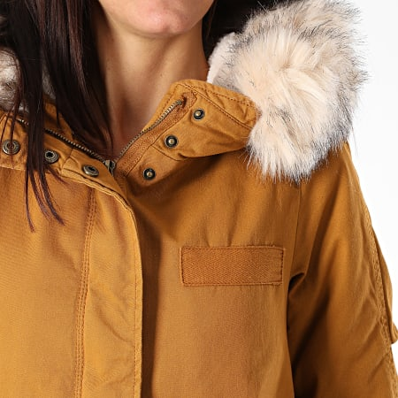 Only - Parka Fourrure Femme May Life Camel