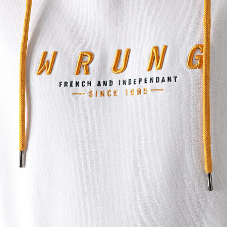 Wrung - Sweat Capuche Web Blanc