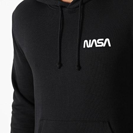 NASA - Sweat Capuche Simple Chest Noir