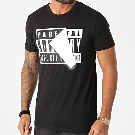 Parental Advisory - Tee Shirt Parental Advisory Sticker Noir