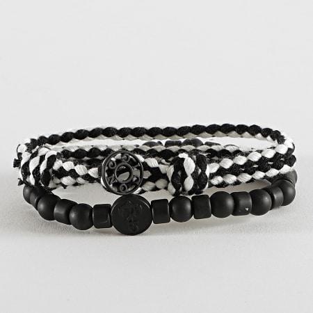 Icon Brand - Bracelet Multi-Rangs LE1304 Noir