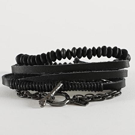 Icon Brand - Bracelet Multi-Rangs B1207 Noir