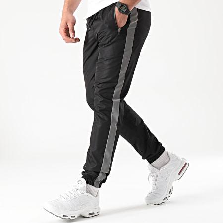 LBO - Pantalon Jogging A Bandes Reflechissant 0013 Noir