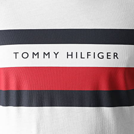 Tommy Hilfiger - Tee Shirt Stripe 5318 Blanc