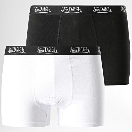 Von Dutch - Lot De 2 Boxers Noir Blanc