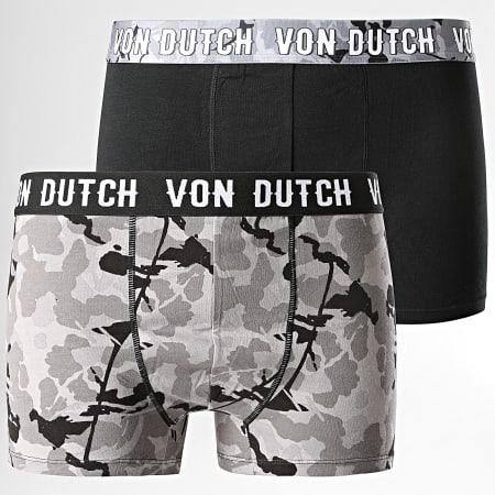 Von Dutch - Lot De 2 Boxers Camo Noir Gris