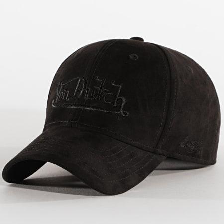 Von Dutch - Casquette Cas 1 Suédine Noir