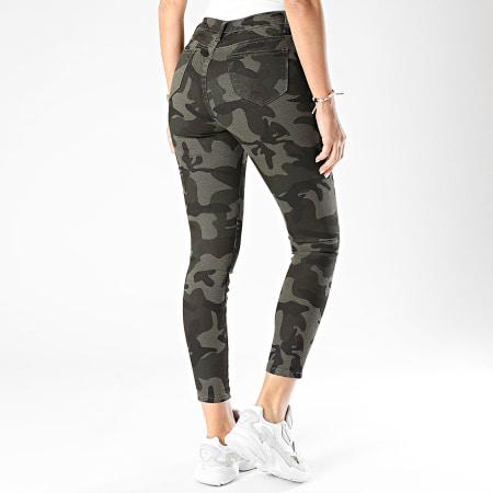 Girls Only - Jean Slim Femme R757 Vert Kaki Camouflage