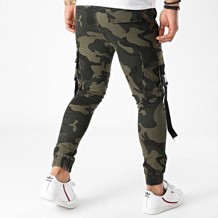John H - Jogger Pant 2612 Vert Kaki Camouflage