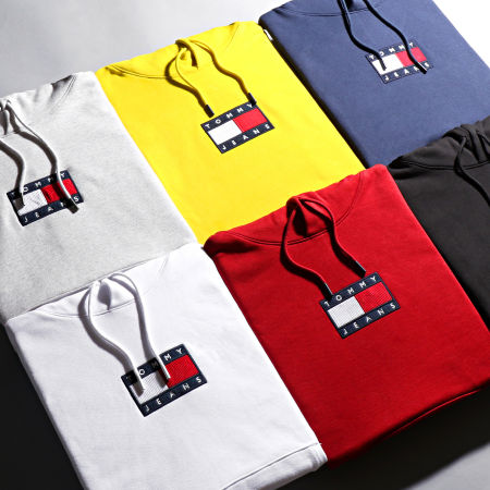 Tommy Jeans - Sweat Capuche Small Flag 8726 Bordeaux