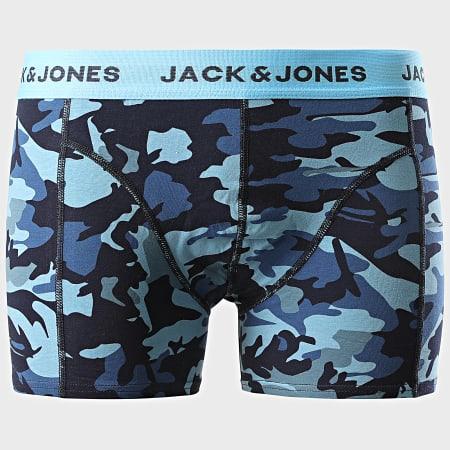 Jack And Jones - Lot De 3 Boxers Camo 12179846 Vert Kaki Bleu Marine Noir
