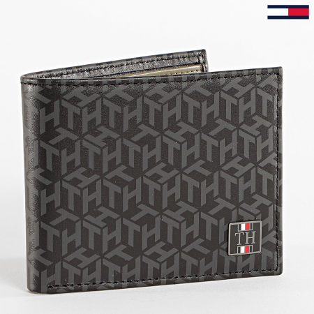 Tommy Hilfiger - Porte-cartes Monogram Mini CC Holder 6529 Noir