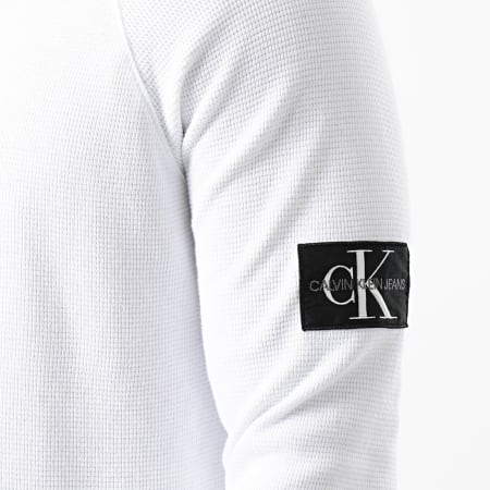 Calvin Klein - Tee Shirt Manches Longues 4168 Blanc