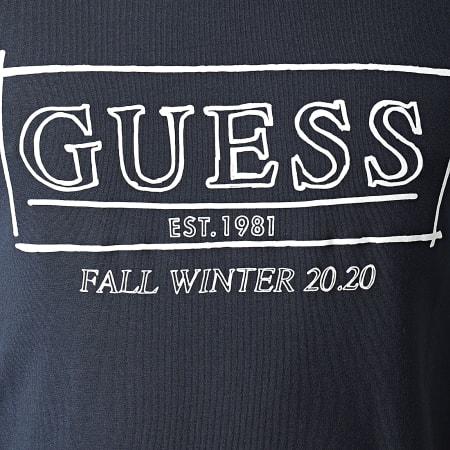 Guess - Tee Shirt Manches Longues M0BI63-J1300 Bleu Marine