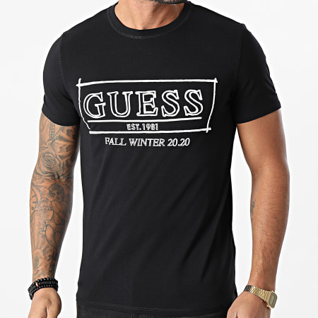 Guess - Tee Shirt Manches Longues M0BI63-J1300 Noir