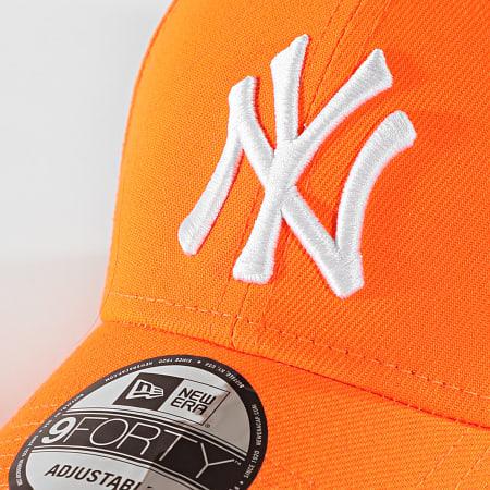 New Era - Casquette 9Forty Neon 12109560 New York Yankees Orange Fluo