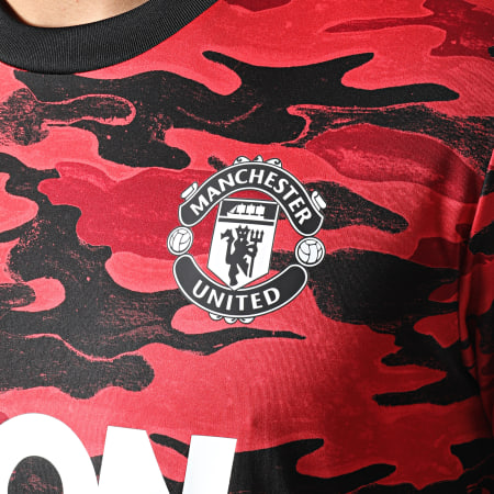 adidas - Tee Shirt Camouflage Manchester United FR6033 Rouge Noir