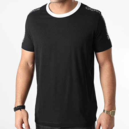 Calvin Klein - Tee Shirt Outline Logo Shoulder 6456 Noir