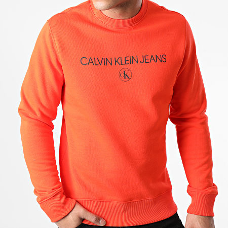 Calvin Klein - Sweat Crewneck Archive Logo 6683 Orange