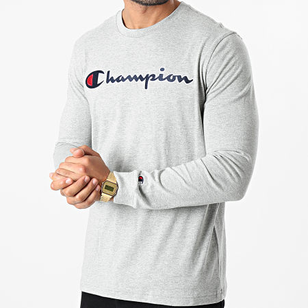 Champion - Tee Shirt Manches Longues 214725 Gris Chiné