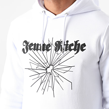 Jeune Riche - Sweat Capuche Next Time Blanc